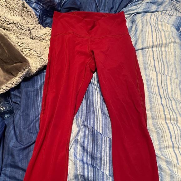 Red lululemon leggings